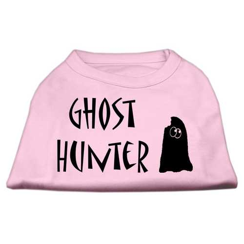 Ghost Hunter Screen Print Shirt Light Pink with Black Lettering Med (12)