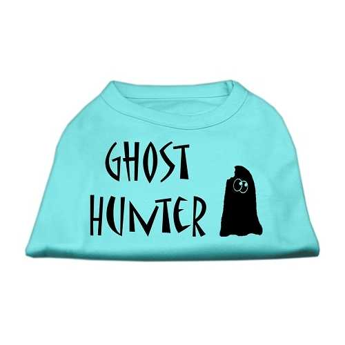 Ghost Hunter Screen Print Shirt Aqua with Black Lettering XL (16)