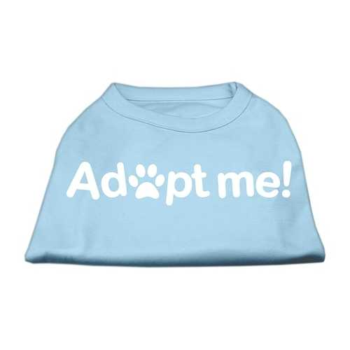 Adopt Me Screen Print Shirt Baby Blue Lg (14)