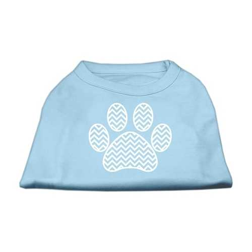 Chevron Paw Screen Print Shirt Baby Blue XXXL (20)