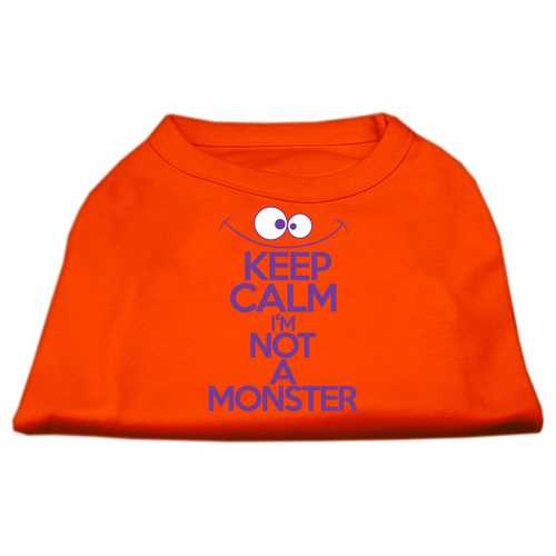 Keep Calm Screen Print Dog Shirt Orange XL (16)