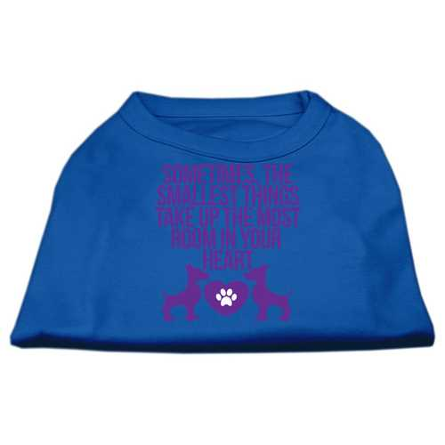 Smallest Things Screen Print Dog Shirt Blue XXL (18)