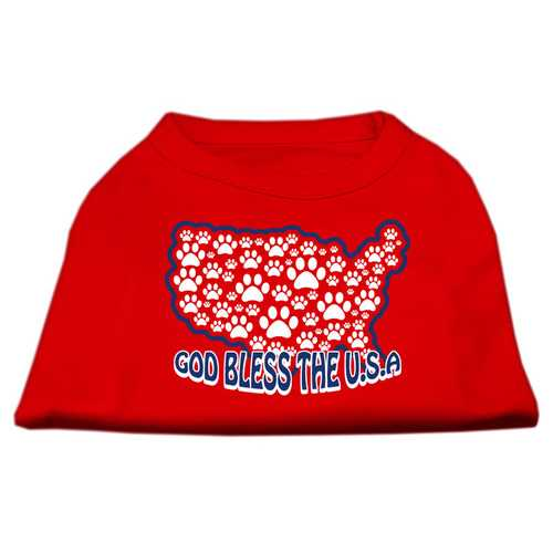 God Bless USA Screen Print Shirts Red S (10)