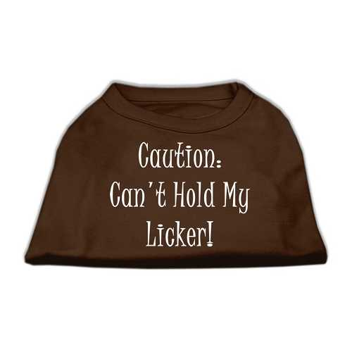 Can't Hold My Licker Screen Print Shirts Brown XXXL (20)
