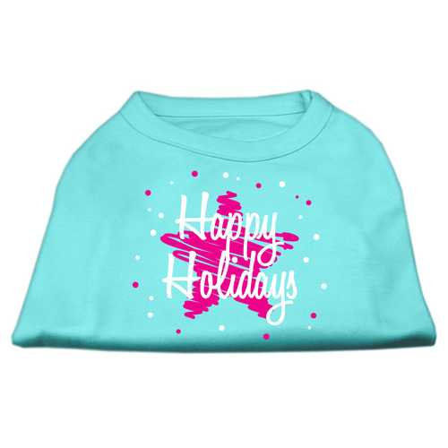 Scribble Happy Holidays Screenprint Shirts Aqua L (14)