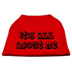 It's All About Me Screen Print Shirts Red XXXL (20)