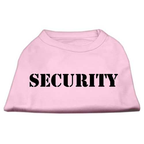 Security Screen Print Shirts Light Pink w/ black text XS (8)