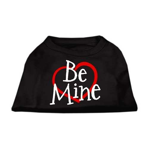 Be Mine Screen Print Shirt Black  XXXL (20)