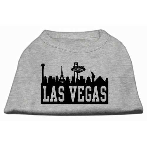 Las Vegas Skyline Screen Print Shirt Grey Med (12)