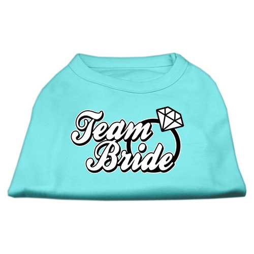 Team Bride Screen Print Shirt Aqua XXXL (20)