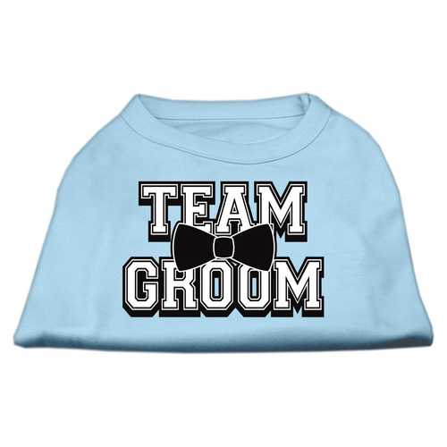 Team Groom Screen Print Shirt Baby Blue Lg (14)