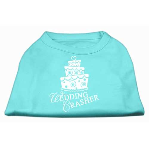 Wedding Crasher Screen Print Shirt Aqua XS (8)