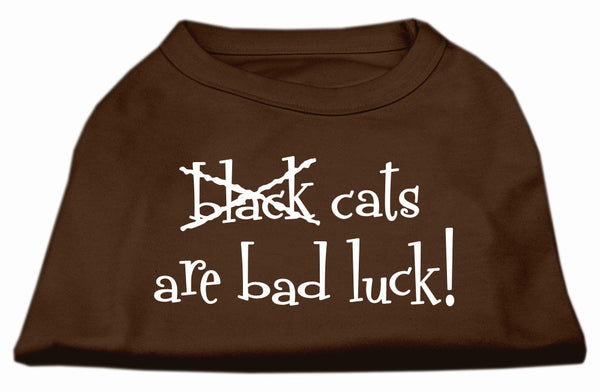 Black Cats are Bad Luck Screen Print Shirt Brown Med (12)