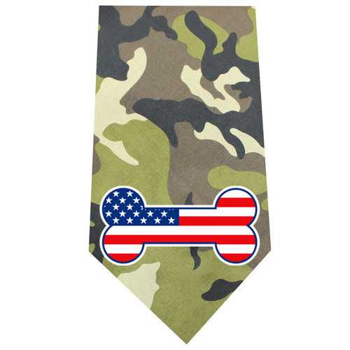 America Bone Flag Screen Print Bandana Green Camo