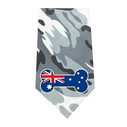 Australian Bone Flag Screen Print Bandana Grey Camo