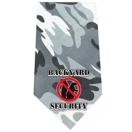 Back Yard Security Screen Print Bandana Grey Camo