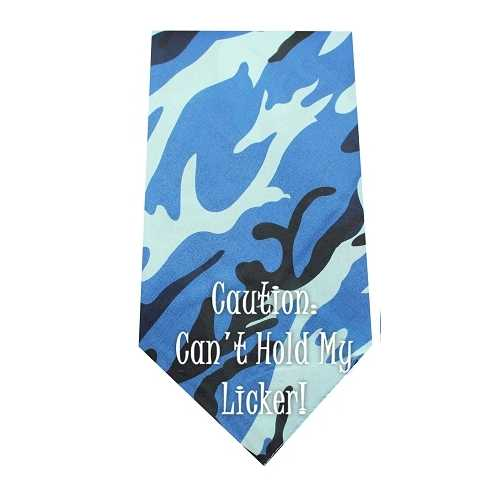Cant Hold Licker Screen Print Bandana Blue Camo