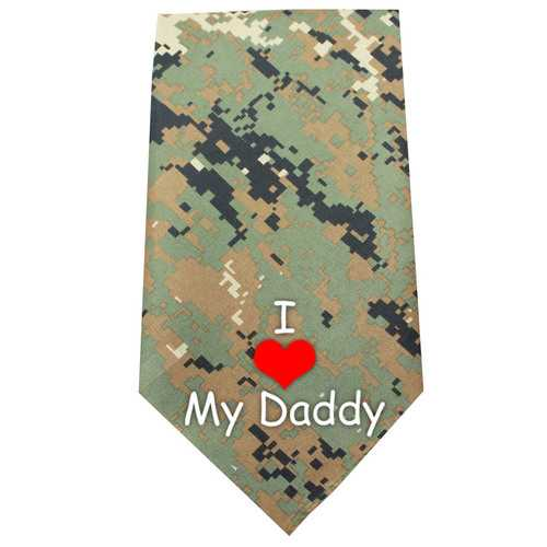 I Love Daddy Screen Print Bandana Digital Camo