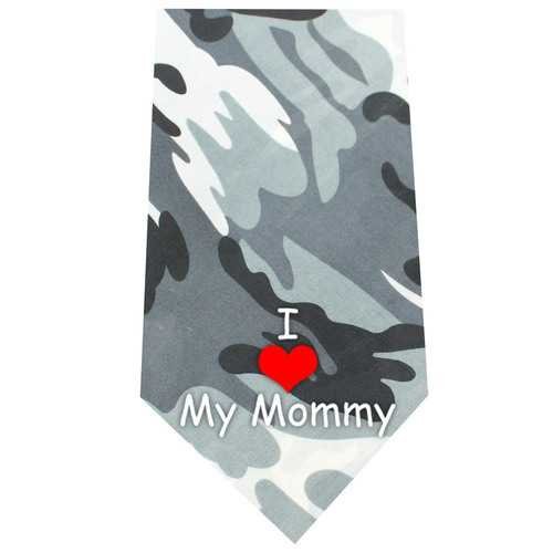 I Love Mommy Screen Print Bandana Grey Camo