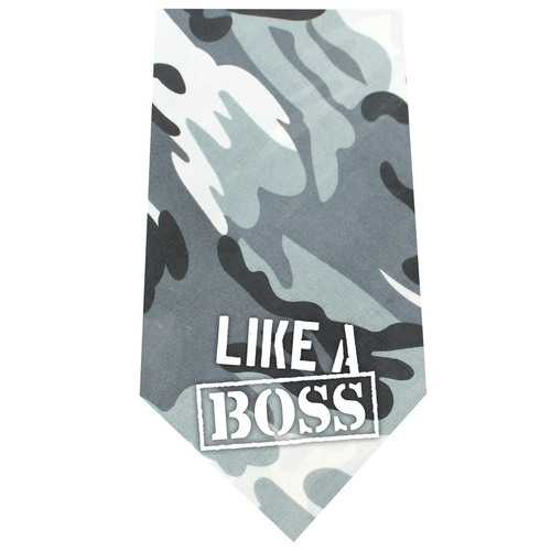 Like a Boss Screen Print Bandana Grey Camo