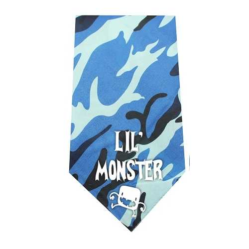 Lil Monster Screen Print Bandana Blue Camo