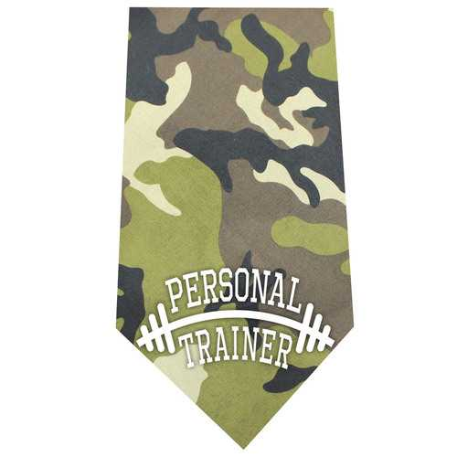 Personal Trainer Screen Print Bandana Green Camo