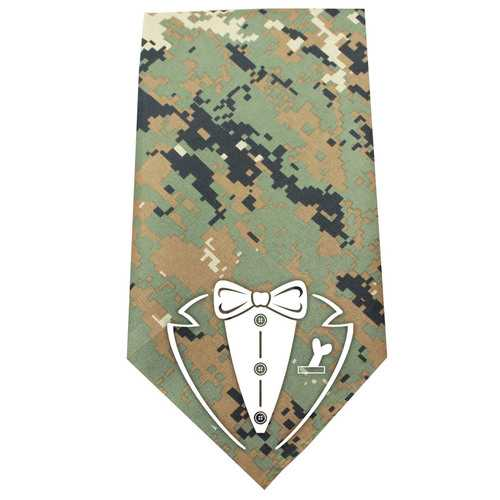 Tuxedo Screen Print Bandana Digital Camo