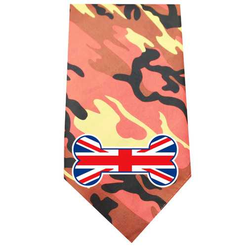 UK Bone Flag Screen Print Bandana Orange Camo