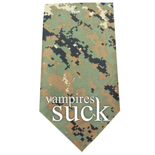 Vampires Suck Screen Print Bandana Digital Camo