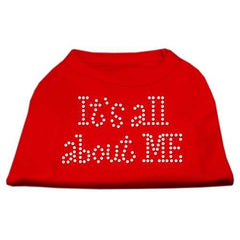 It's All About Me Rhinestone Shirts Red XXL (18)