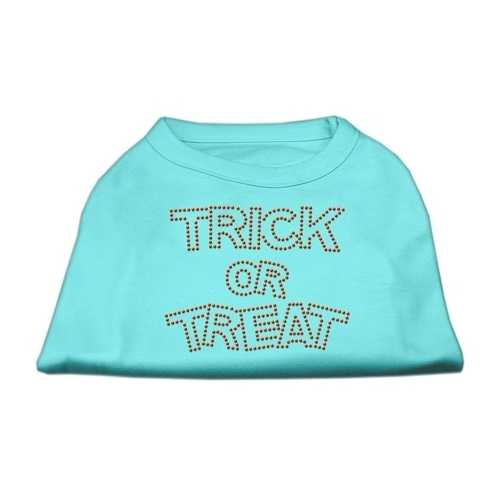 Trick or Treat Rhinestone Shirts Aqua XXXL(20)
