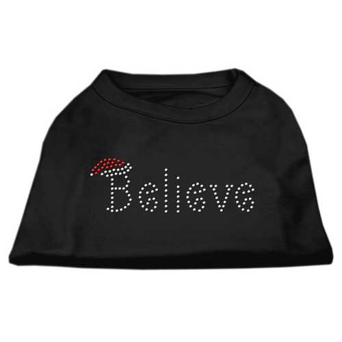 Believe Rhinestone Shirts Black XXL (18)