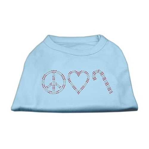 Peace, Love, and Candy Canes Shirts Baby Blue M (12)