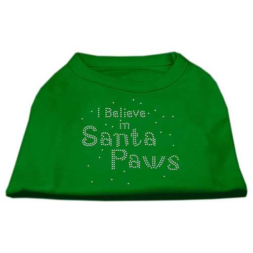 I Believe in Santa Paws Shirt Emerald Green Med (12)