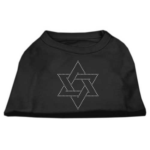 Star of David Rhinestone Shirt   Black XXXL(20)