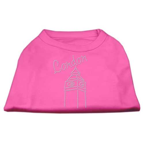 London Rhinestone Shirts Bright Pink L (14)
