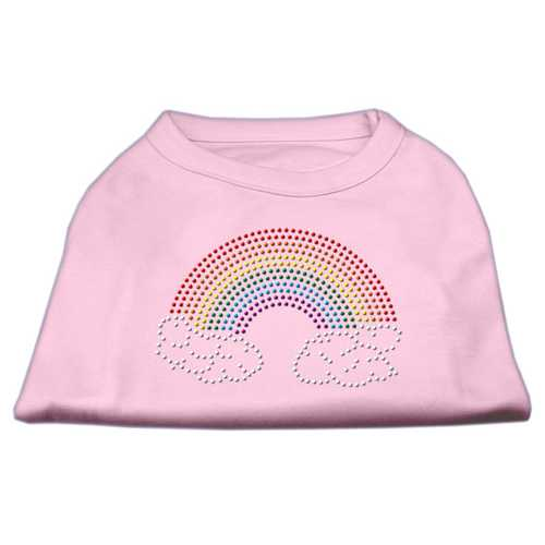 Rhinestone Rainbow Shirts Light Pink XXL (18)