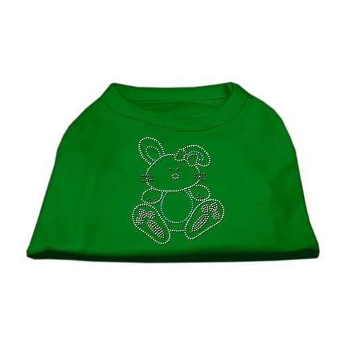 Bunny Rhinestone Dog Shirt Emerald Green XXL (18)
