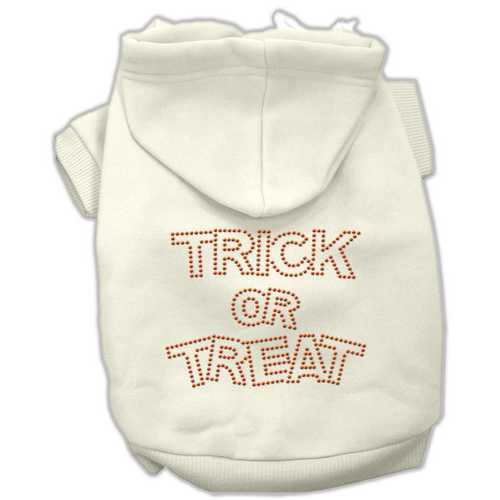 Trick or Treat Rhinestone Hoodies Cream S (10)