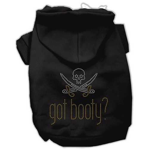 Got Booty Rhinestone Hoodies Black XXXL(20)