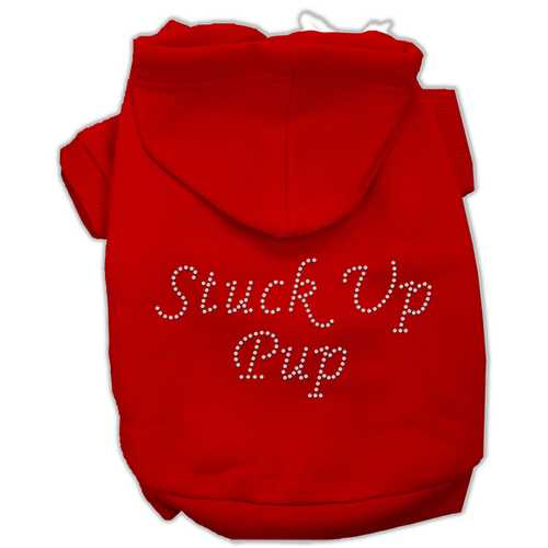 Stuck Up Pup Hoodies Red S (10)