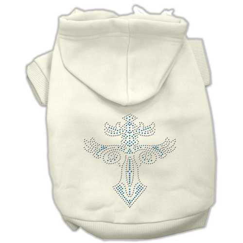 Warrior's Cross Studded Hoodies Cream XS (8)