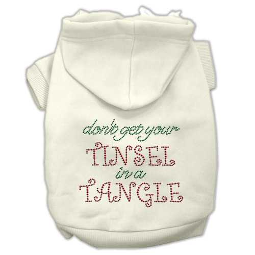 Tinsel in a Tangle Rhinestone Hoodies Cream XL (16)