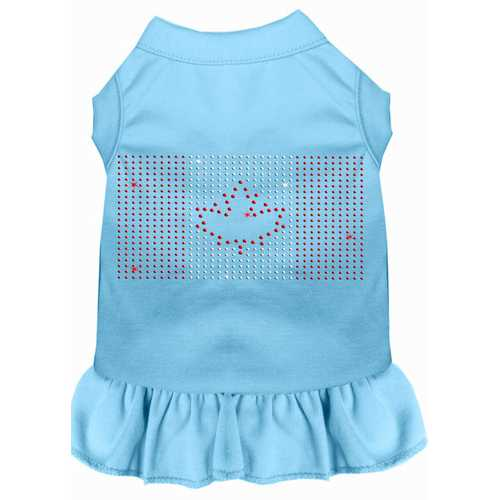 Rhinestone Canadian Flag Dress Baby Blue Med (12)