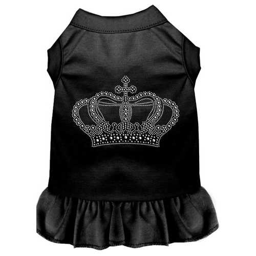 Rhinestone Crown Dress Black 4X (22)