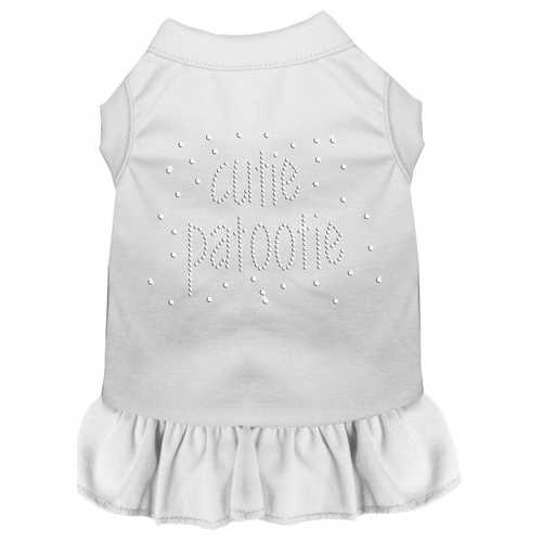 Rhinestone Cutie Patootie Dress White XXL (18)