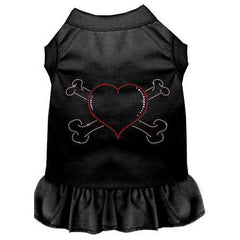 Rhinestone Heart and crossbones Dress Black 4X (22)
