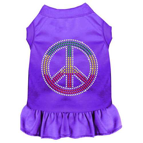 Rhinestone Rasta Peace Dress Purple XXXL (20)