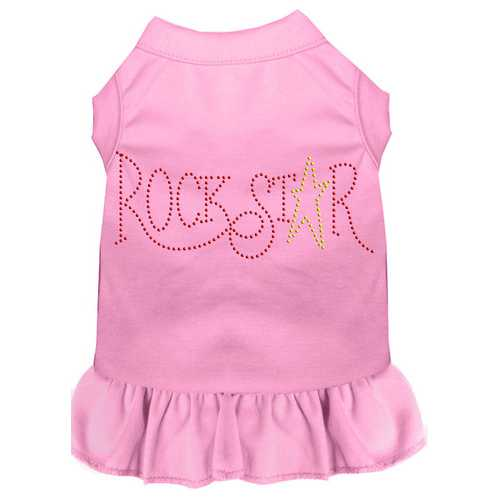 Rhinestone RockStar Dress Light Pink Sm (10)