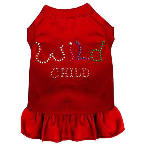 Rhinestone Wild Child Dress Red XS (8)